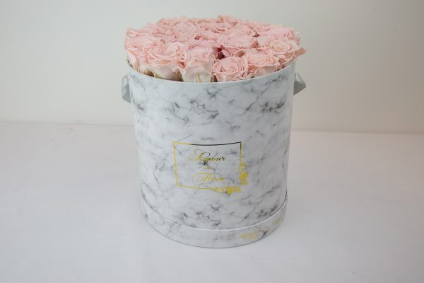 Forever Marble Aurora Roses pink